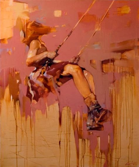 woman on swing painting girl on swing by costa dvorezky art pinterest