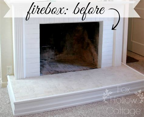 How To Paint A Fireplace Firebox Fox Hollow Cottage Painting The Fireplace