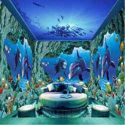 Underwater Wall Mural Aliexpress Com Buy Underwater World Photo Murals Wall