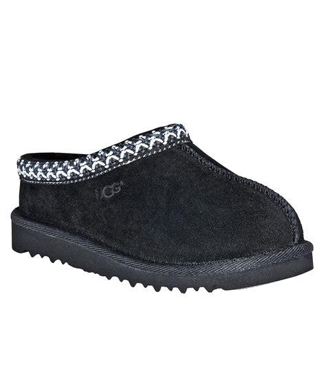 womens black ugg slippers ugg 174 tasman slippers in black lyst