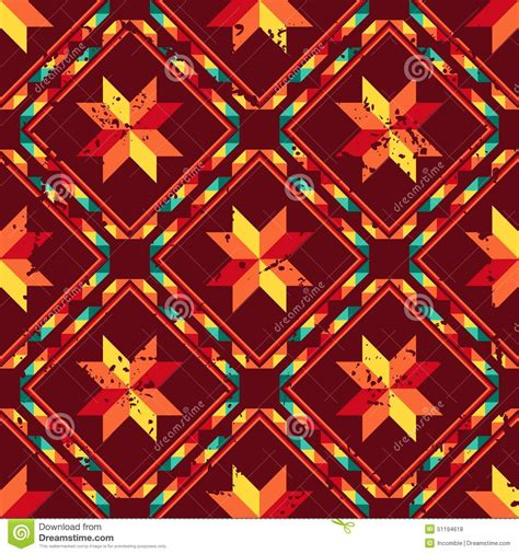abstract aztec pattern abstract geometric seamless aztec pattern vector