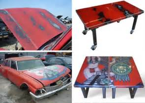 Recycle Old Sofa Recycled Metal Furniture From Scrap Car Hoods