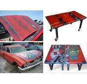 Car Table Recycled Recycle Part Furniture Stefano