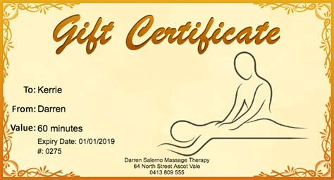 printable back rub gift certificates free massage gift certificate template 01 gift template