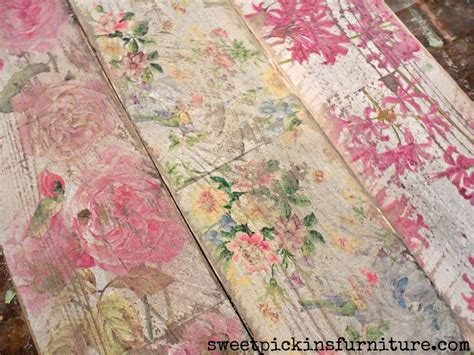 Decoupage With Napkins On Wood - sweet pickins napkins on wood driftwood