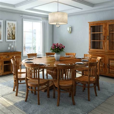 sierra nevada rustic solid wood large  dining table