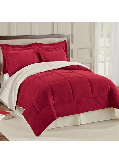 fleece comforter reversible fleece sherpa comforter drleonards com