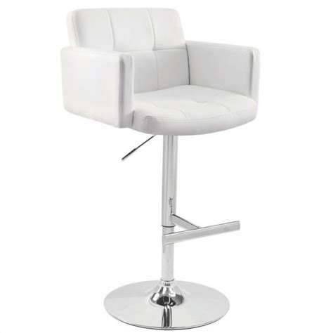 white bar stools with backs and arms lumisource stout 24 quot 32 quot white bar stool