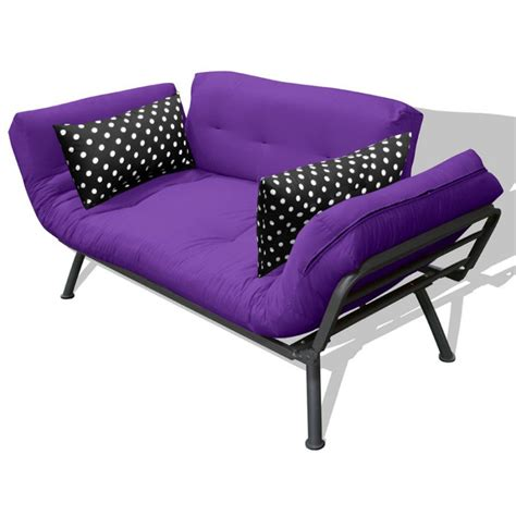 purple futon mali flex futon purple black polka dot beanbagtown com