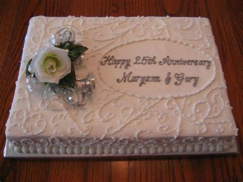 anniversary sheet cakes 25th anniversary cake