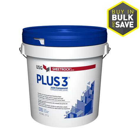 Bathroom Drywall Joint Compound Shop Sheetrock Brand Plus 3 4 5 Gallon Premixed