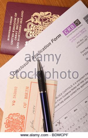 Visa For Usa From Uk With Criminal Record Passport With Application Form Stock Photo Royalty Free Image 66518057 Alamy