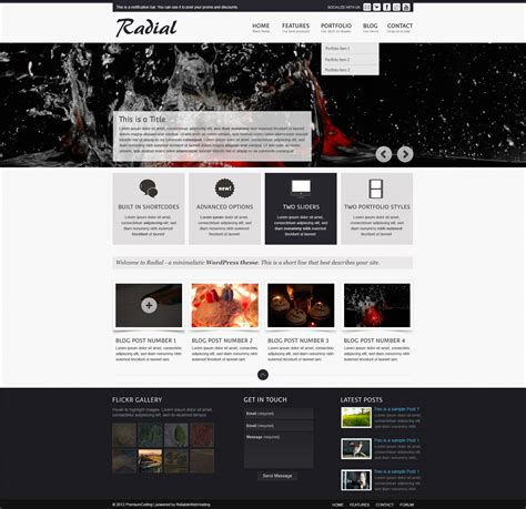website templates for videos and photos website template psd4free