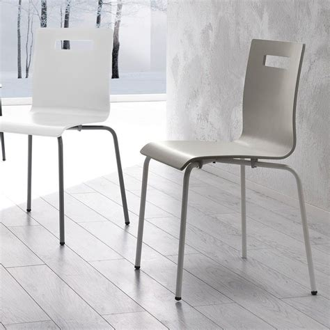 sedia in metallo sedia show in metallo e legno moderna da cucina