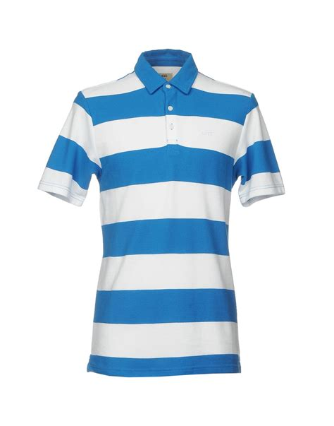 Polo Shirts Vans P3190 lyst vans polo shirt in white for