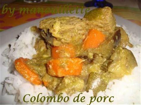 panier 騅ier cuisine colombo de porc par gourmandise