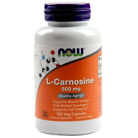 now foods l carnosine 500 mg 100 vegetarian capsules