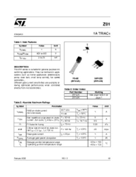 z0103 transistor datasheet transistor z0103 28 images симисторы серии z0103 файловое хранилище z0103 philips triacs