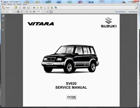 Suzuki Vitara Workshop Manual Free Suzuki Vitara Sv620 Service Manual