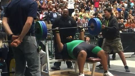 high school bench press records desire davis of evans high ties state weightlifting record