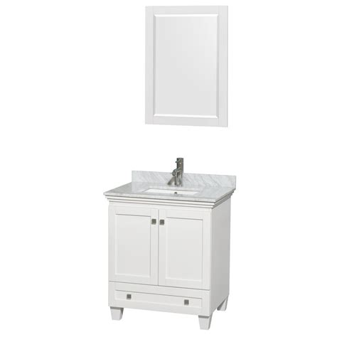 30 inch vanity top with sink acclaim 30 inch single bathroom vanity in white white