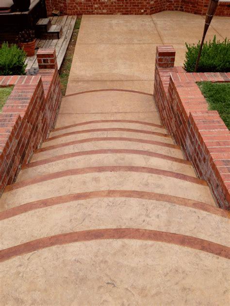decorative concrete steps and patio bill s custom