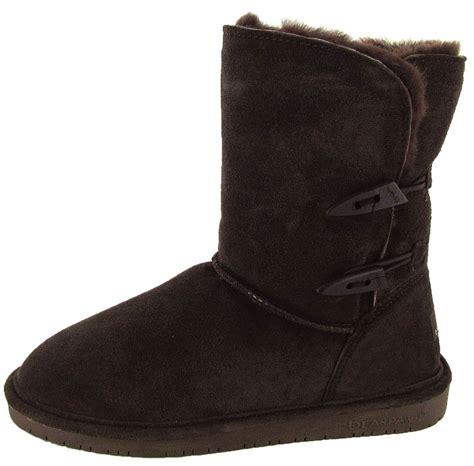 bearpaw womens boots bearpaw womens abigail suede sheepskin boot shoe ebay