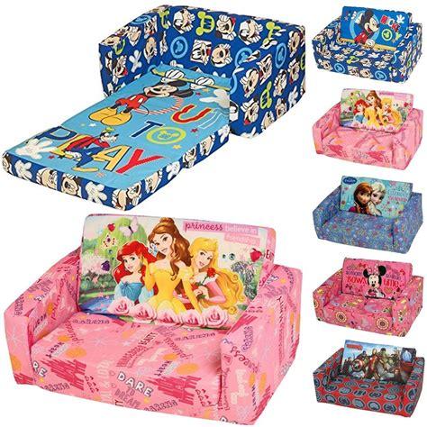 double flip out sofa disney character childrens flip out double foam sofa