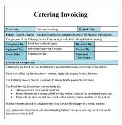 Basic Menu Template by Catering Invoice Template 10 Free Documents In Pdf