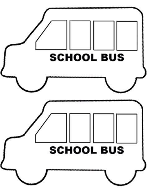 rox s storytime resources school bus craft