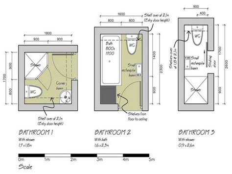 Bathroom Floor Plans For Small Spaces | small bathroom floor plans 3 option best for small space
