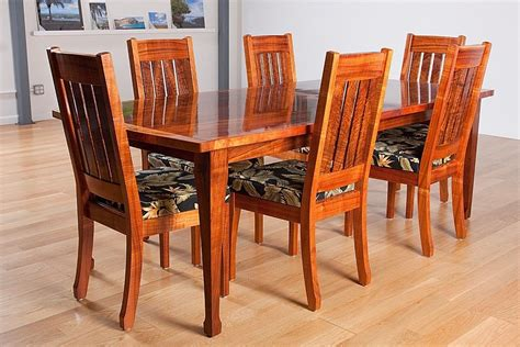 Koa Dining Table Custom Hawaiian Curly Koa Dining Table And Chair By Keaau Custommade
