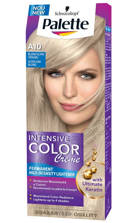 palette schwarzkopf schwarzkopf palette a10 ash blonde intensive color creme