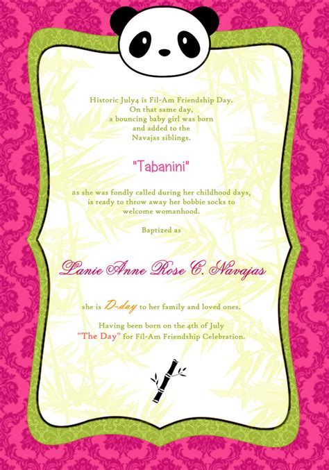Invitation Letter For Debut Debut Invitation Inspirational Message Pic 15