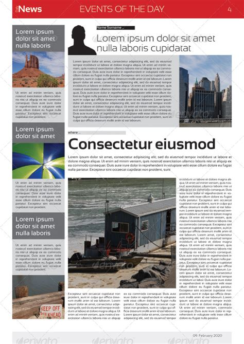 stron biz a3 newsletter template