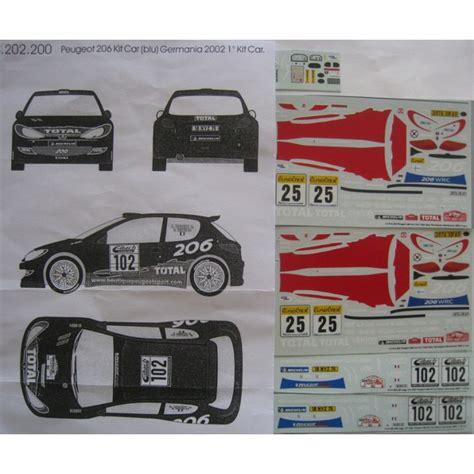 peugeot 102 car peugeot 206 kit car n 176 102 allemagne 2002