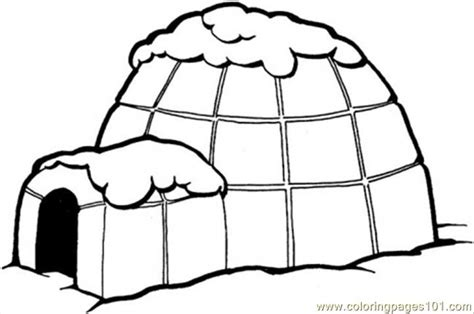 igloo coloring page free coloring pages igloo architecture gt houses free