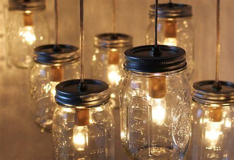 Mason jar chandelier three ring canopy