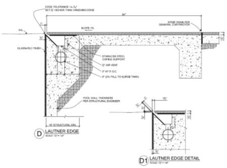 Swimming Pool Section Detail by God Is In The Details By Skip Phillips Swd Master