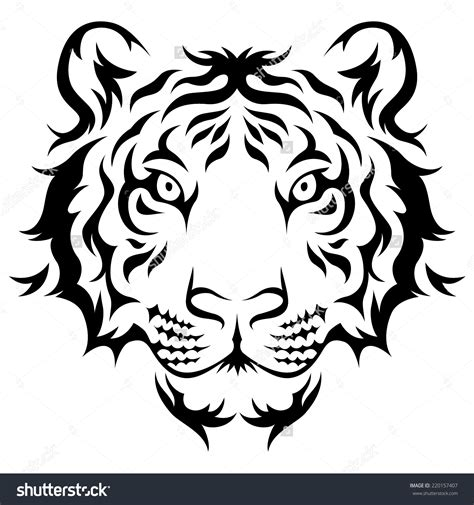 monochrome drawing bull tribal patterns on stock vector stock images similar to id 158861822 tiger black and