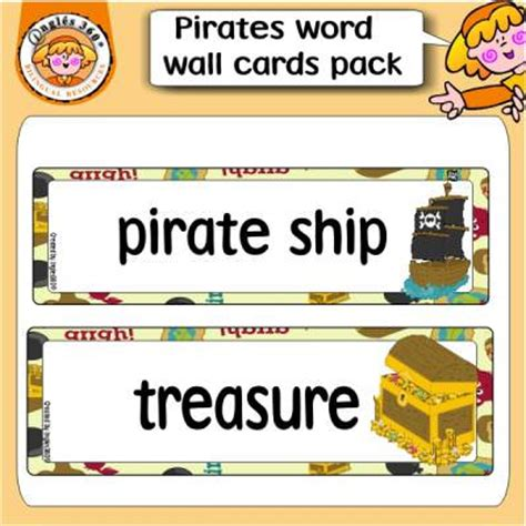Wall Cards - pirate themed word wall cards tip junkie