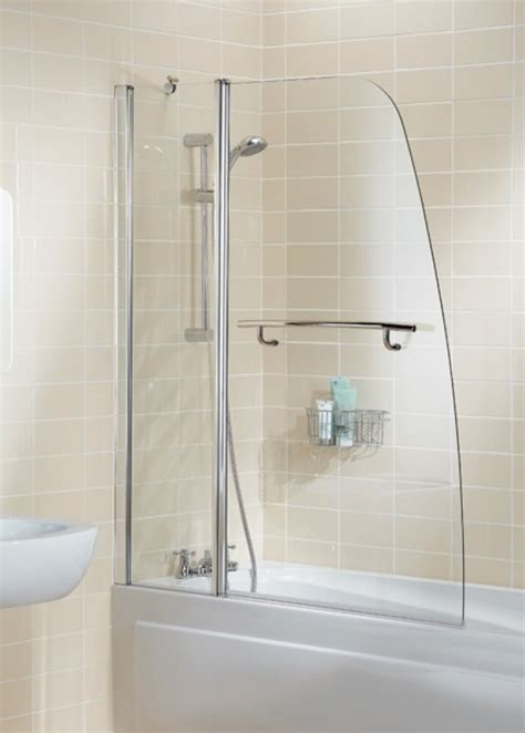 lakes classic silver mm sail double panel bath shower