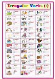 english teaching worksheets irregular verbs