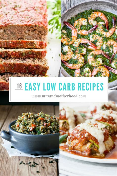 16 easy low carb recipes for weight loss mrs and motherhood