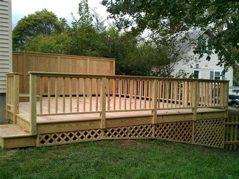 best deck fencing with deck with privacy fence side view