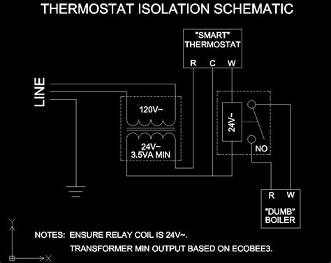 isolation relay wiring diagram thermostat thermostat to