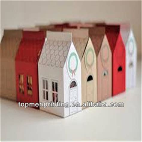 design home gift and paper 2015 new design house shape paper gift box packaging flat