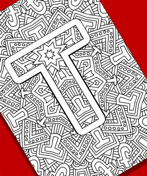 coloring pages for adults letter t alphabet adult coloring pages instant download letter t