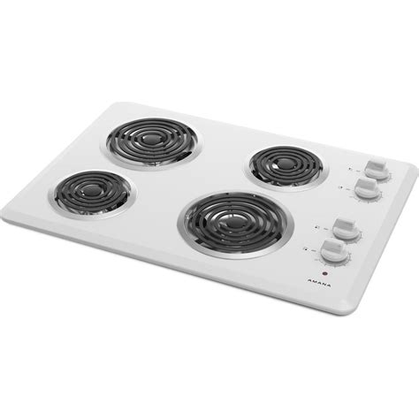 Amana Cooktop amana acc6340kfw 30 quot electric cooktop
