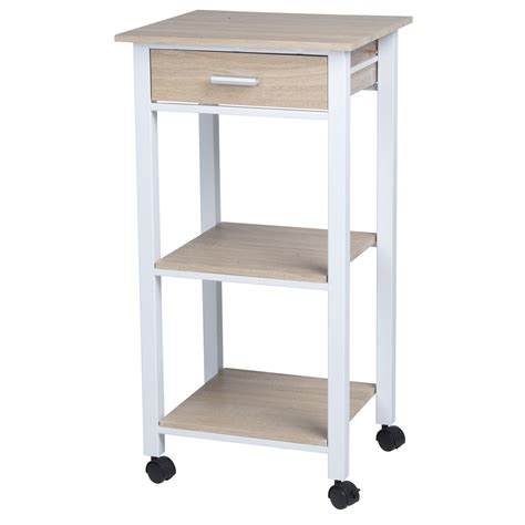 homestyle kitchen island homestyle 42x37x81cm kitchen island rolling trolley
